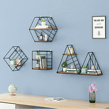 Wall Mounted Metal Wire Storage Basket Shelves Rack for Home Office Kitchen