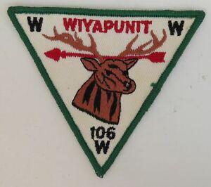 OA Wiyapunit Lodge 106 X5 DGR Bdr. Aurora Area, Illinois [TK-481]
