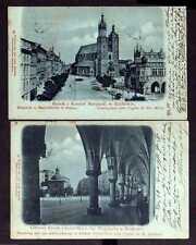 113306 2 AK Krakau 1899 Ringplatz Marienkirche Adalbertkirche Hauptring