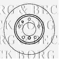 BBD4175 BORG & BECK BRAKE DISC PAIR fits Toyota Yaris Verso 1.3i 2001-
