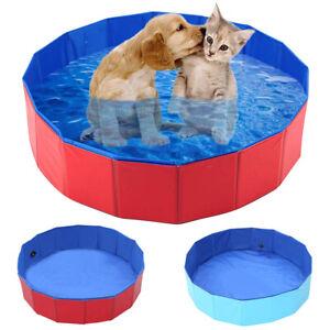 Portable Pet Bain Chien piscine Pliable Bain Pataugeoire Puppy baignoire 80*30cm