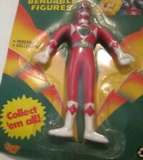 "Mighty Morphin POWER RANGERS Red JASON Bendable BENDY figure 5"", 1994 Gordy"