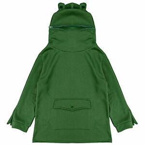Womens Cute Zipper Mouth Frog Hoodie Long Sleeve Hooded Pullover Tops Sweatshirt