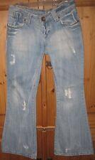 h & m fit chiq light wash distressed euc denim jeans 29 x 30 flare