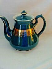 "Vintage 1920's Hall ""Philadelphia"" 6 Cup Emerald Green Teapot w/Gold Decoration"