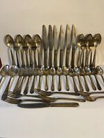 Large Rare Fortune Silver Plate Silverware Set 1932 FORTUNE Pattern With Patina