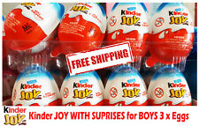 Kinder Joy with Surprise Eggs in Toy & Chocolate For Boys  3 x Eggs New MALAYSIA