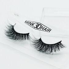 1 Pairs Soft 3D Design 100% Real Mink False Eyelashes Cross Messy Eye Lashes New