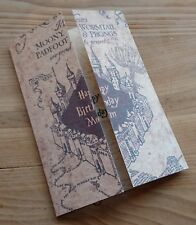 Personalised Name Handmade Harry Potter Marauders Map A6 Greeting Birthday Cards