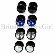 2-8pcs Shiny Glass Stone Men Women Stainless Steel Ear Piercing Stud Earrings