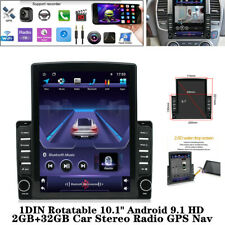 "1DIN Rotatable 10.1"" Android 9.1 HD 2GB+32GB Car Stereo FM/AM Radio GPS USB AUX"