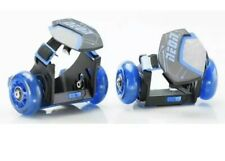 Neon Pop N Lock Blue Street Rollers with Led wheels and adjustable straps New