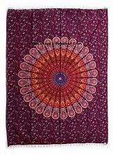 Indian Peacock Mandala Wall Hanging Tapestry Home Decor Yoga Mat Table Runner