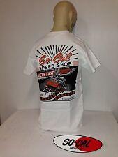 So-Cal t-shirt safety fast WHITE sz XXL rear print hotrod 32 ford chev