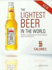 The lightest beer in the world- Select 55- 2009 Budweiser print magazine ad