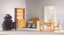 poupée #15# échelle 1:12 ronds Table//Table de cuisine miniature P.D blanc