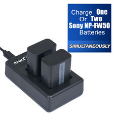 Dual Battery charger for Sony NP-FW50 Nex-5 Nex-5N Nex-C3 NEX-3 Alpha SLT-A35