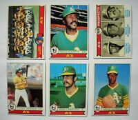 1979 Topps Oakland A's Athletics Team Set (26 Cards)