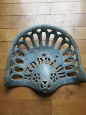 Vintage Stoddard Cast Iron Tractor Seat Antique Farm Tools Equipment