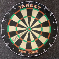 Phil The Power Taylor Signed Target Pro Tour Dart Board RARE Proof COA