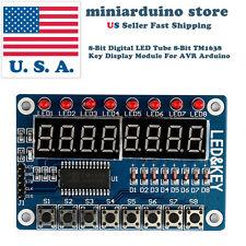 8-Bit Digital LED Tube 8-Bit TM1638 Key Display Module For AVR Arduino USA