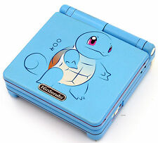 Custom Printed & Sprayed Squirtle Pokemon SP Nintendo Game Boy Advanced SP
