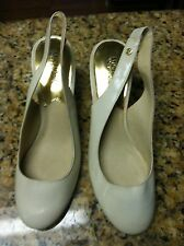 Michael Kors women's size 9M shoes 9 kitten heels used open back straps high