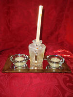 NEW San Miguel Sentiments Vintage Fragrance Tray Champagne Oil Candles Reeds