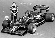 Elio De Angelis & Nigel Mansell JPS Lotus F1 Portrait 1983 Photograph 2