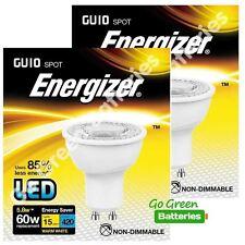 2x Energizer GU10 5.8 W = 60W LED Bulb Spotlight 420 Lumens Warm White