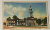 Vintage INDIANA postcard The Old Cathedral Catholic church VINCENNES IN 1930s