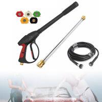 3000PSI High Pressure Car Power Washer Spray Gun Wand Tip Hose Kit Cold Water