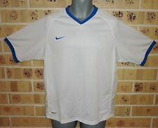 Large Mens NIKE FIT DRY Sport Top White Polyester Pre owned Condition