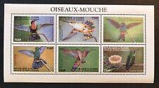 GUINEA 1999 MNH HUMMINGBIRD STAMP SHEET OF 6 BIRD STAMPS WILDLIFE NATURE BIRDS h