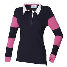 Cotton Collared Long Sleeve Striped Tops & Shirts for Women