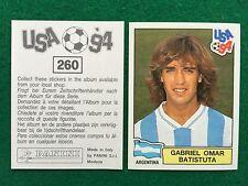 USA 94 1994 n 260 GABRIEL OMAR BATISTUTA ARGENTINA Figurina Sticker Panini (NEW)