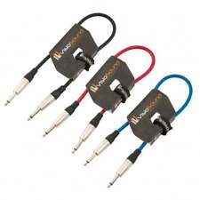 3 x Cable Guitarra 6.35mm Mono Jack a Jack / Cable instrumento / 0.5m Multicolor