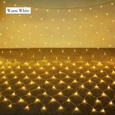 LED Net Mesh Christmas Fairy String Lights Wedding Xmas Party Outdoor Decor 220V