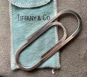 "RARE Vintage Tiffany & Co. Sterling Silver .925 XL 3"" Paperclip Money Clip"
