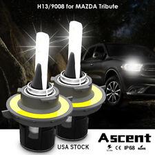Car Front H13 9008 Cree Led Headlight Kit Bulbs Beam For Mazda Tribute 2011-2008