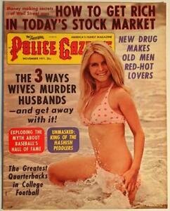 National Police Gazette, November 1971 Vintage Magazine - Jacqueline Bisset VF