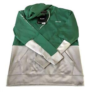 Simms Mens Challenger Hoody Medium Pullover Evergreen Gray Pockets New