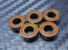 [10 Pcs] MR84-2RS (4x8x3 mm) Rubber Double Sealed Ball Bearing MR84RS (Orange)