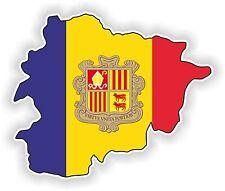 1x STICKER  Andorra SILHOUETTE BUMPER DECAL MAP FLAG