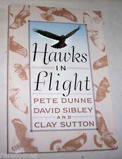 Hawks in Flight by Pete Dunne pb 1989 raptor falcon eagle osprey birds of prey