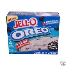 4x Jell-o no Bake oreo pudding estados unidos 119g (pudding con oreo galleta sabor)