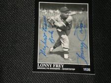 LONNY FREY CONLON COLLECTION AUTO CARD #812 (d.2009)