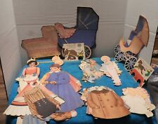 Big Lot Of Paper Dolls, Clothes & Other Items