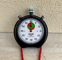 Cronometro Heuer Trackmaster meccanico gara stopwatch race chronometer 1960 1970