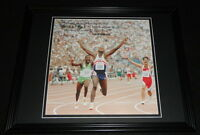 Carl Lewis 1992 Olympics Framed 11x14 Photo Display